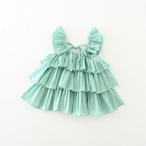 Pleats Top In Mint Green