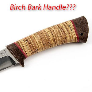 Birchbark for the knife handle - pros and cons.