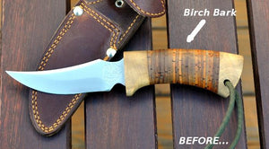 Reconditioning of the Birch Bark handle.