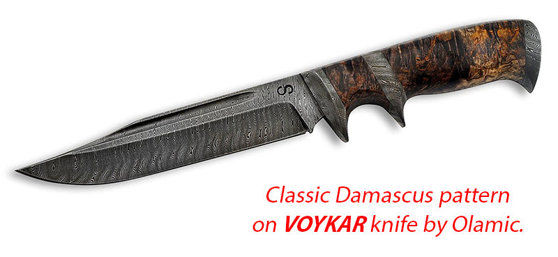 Voyak Damascus knife by Olamic.