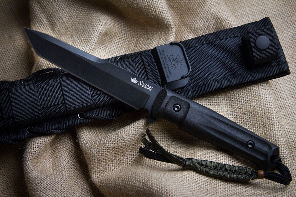 Aggressor D2 - tactical knife from Kizlyar Supreme with the sheath