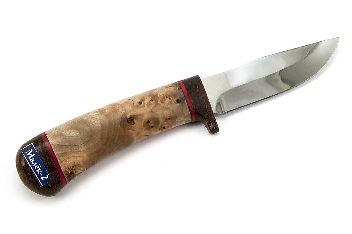 Fry-2 camping knife from Rosarms with birch nodule handle