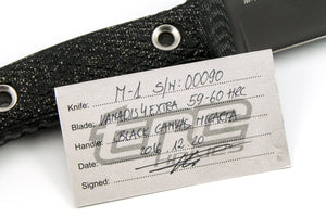 Certificate of Authenticity for M-1 custom knife
