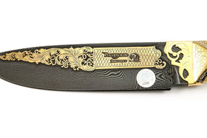 Setter - custom art knife from Rosarms, blade details