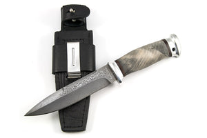 Rosarms custom knife Rescuer-2 with damascus blade with the sheath