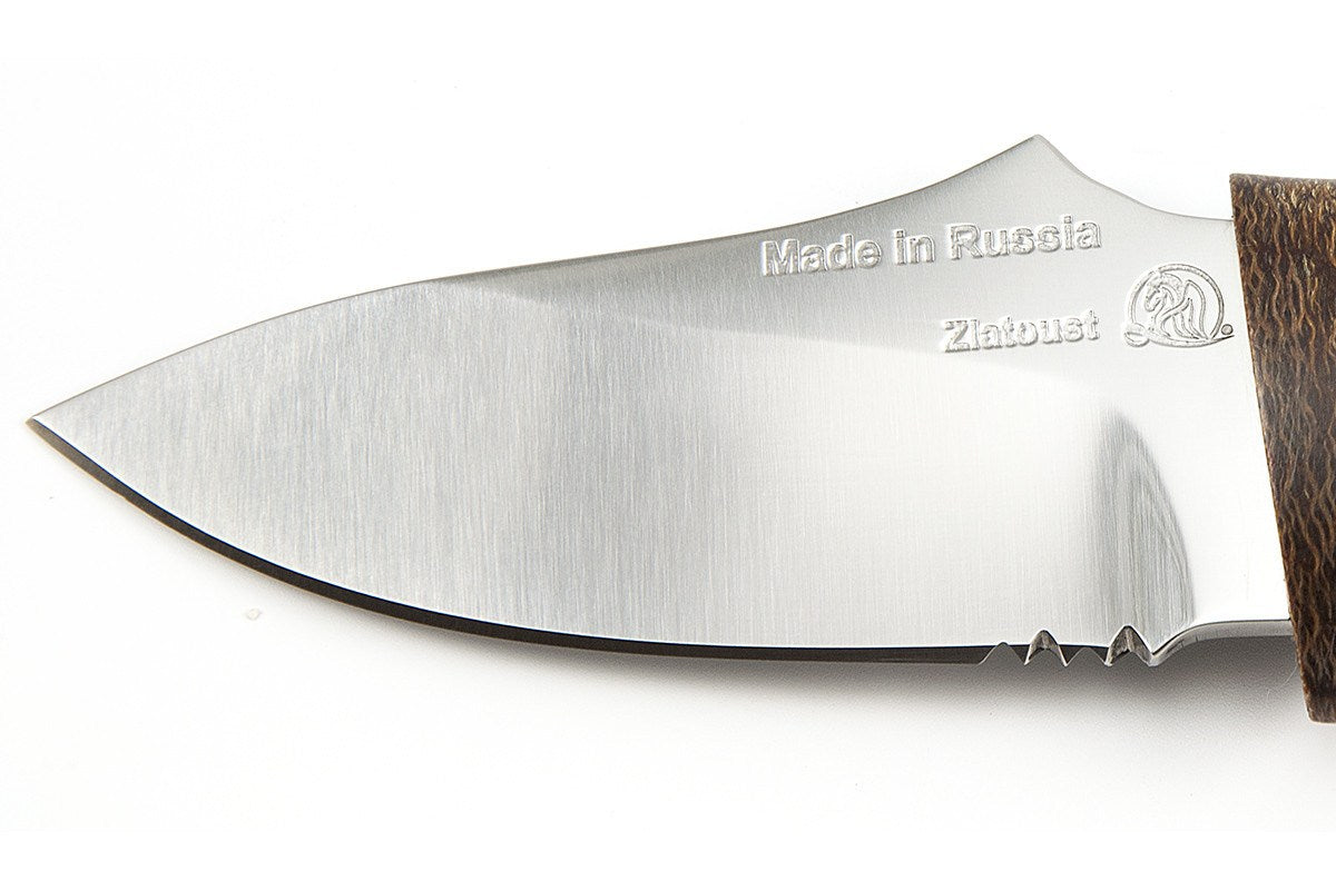 Sting - hunting knife from Rosarms, blade details
