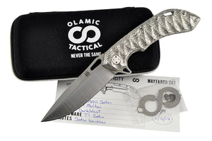 Wayfarer 247 - molten natural titanium handle by Olamic Tactical, all included