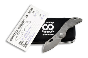 Busker Largo Wash - custom folding knife by Olamic Tactical all together