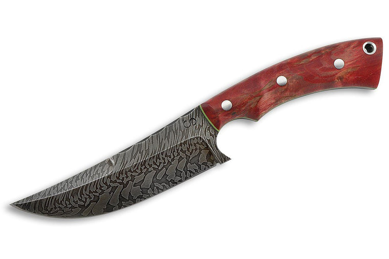 NERO - custom Damascus knife by Olamic Cutlery