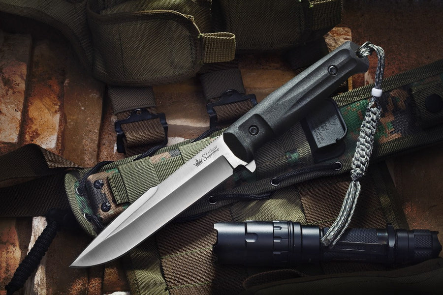 Delta D2 Tactical Knife from Kizlyar Supreme Black Ti Blade Coating