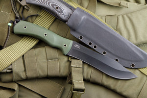Safari Hunting Knife From Kizlyar Supreme With Black Ti Coating