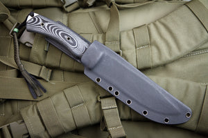 Safari Hunting Knife From Kizlyar Supreme With Satin Finish In Sheath