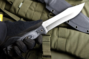Safari Hunting Knife From Kizlyar Supreme With Satin Finish