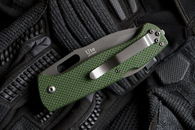 Ute EDC Folding Knife From Kizlyar Supreme In Closed Position