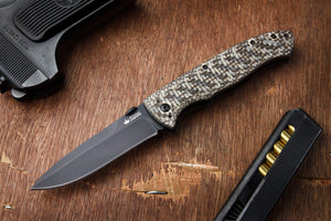 Vega Folding Knife From Kizlyar Supreme In Open Position