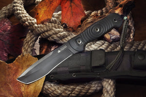 Vendetta Camping Knife With Black Ti Coating From Kizlyar Supreme