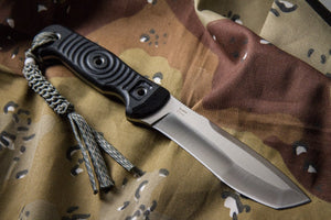 Vendetta Camping Knife With Satin Finish From Kizlyar Supreme