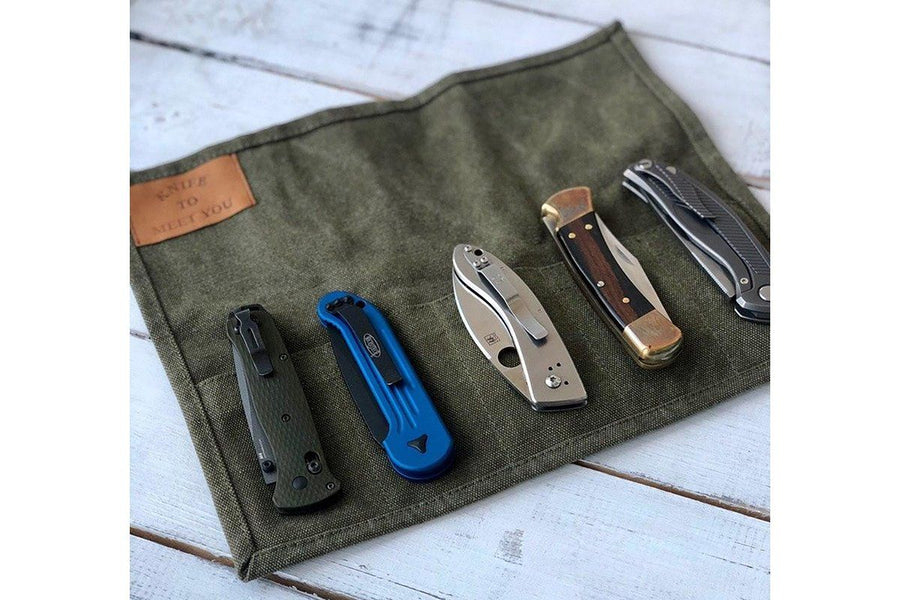 Bag for 5 folding knives by Knife To Meet You