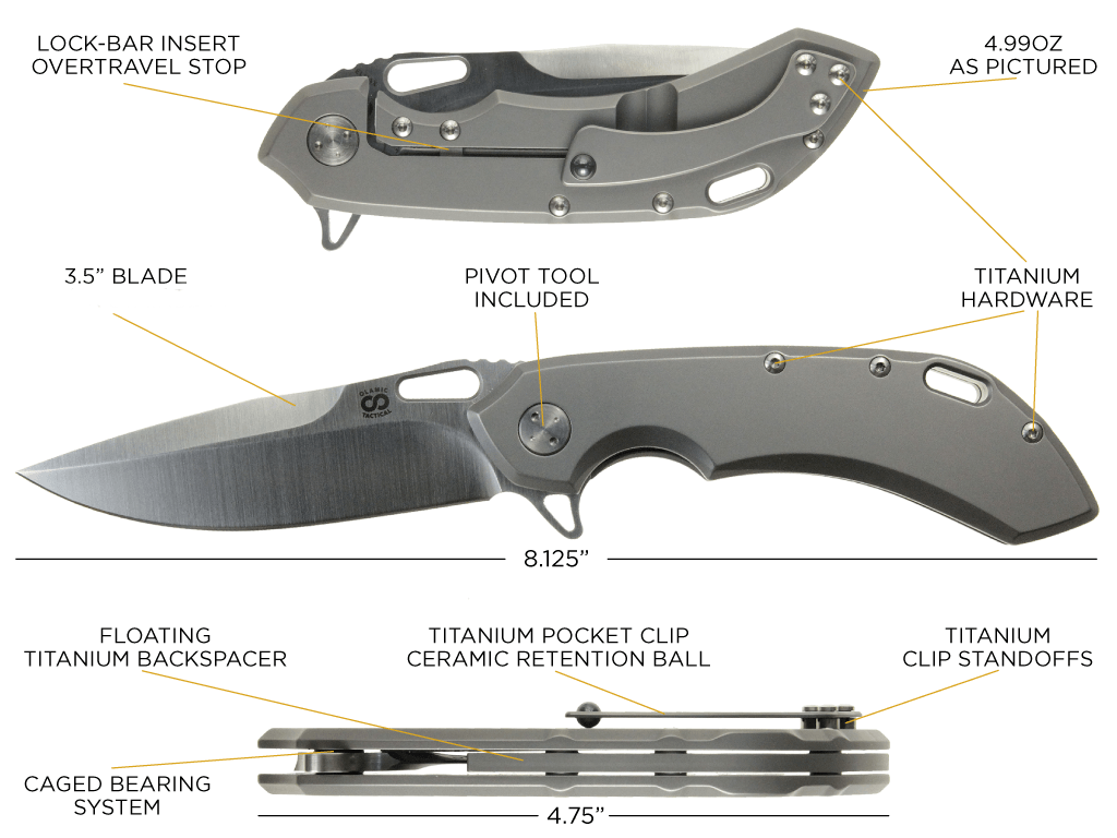 Wayfarer 247 custom folding knife from Olamic anathomy
