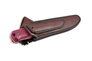 knife in the leather sheath