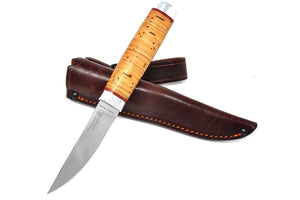 knife with leather sheath