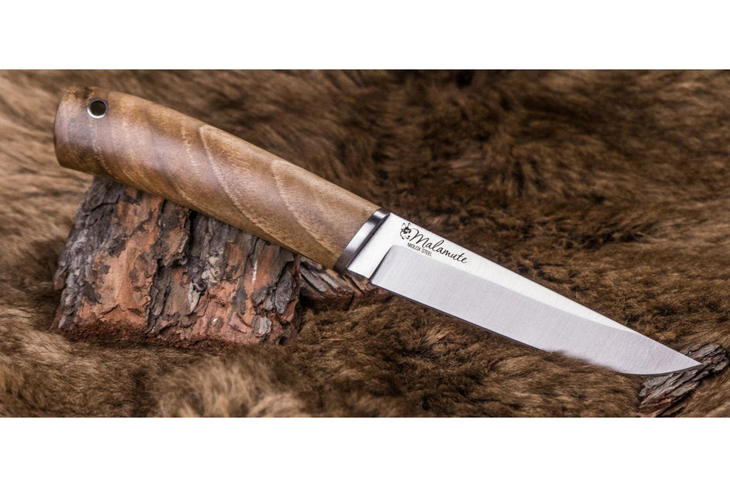 Malamute hunting knife by Kizlyar Supreme, other side of the blade
