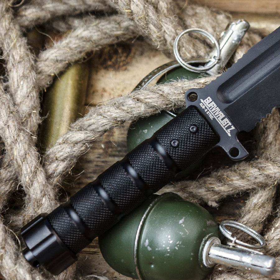 Survivalist Z D2 With Black Ti Coating Knife From Kizlyar Supreme