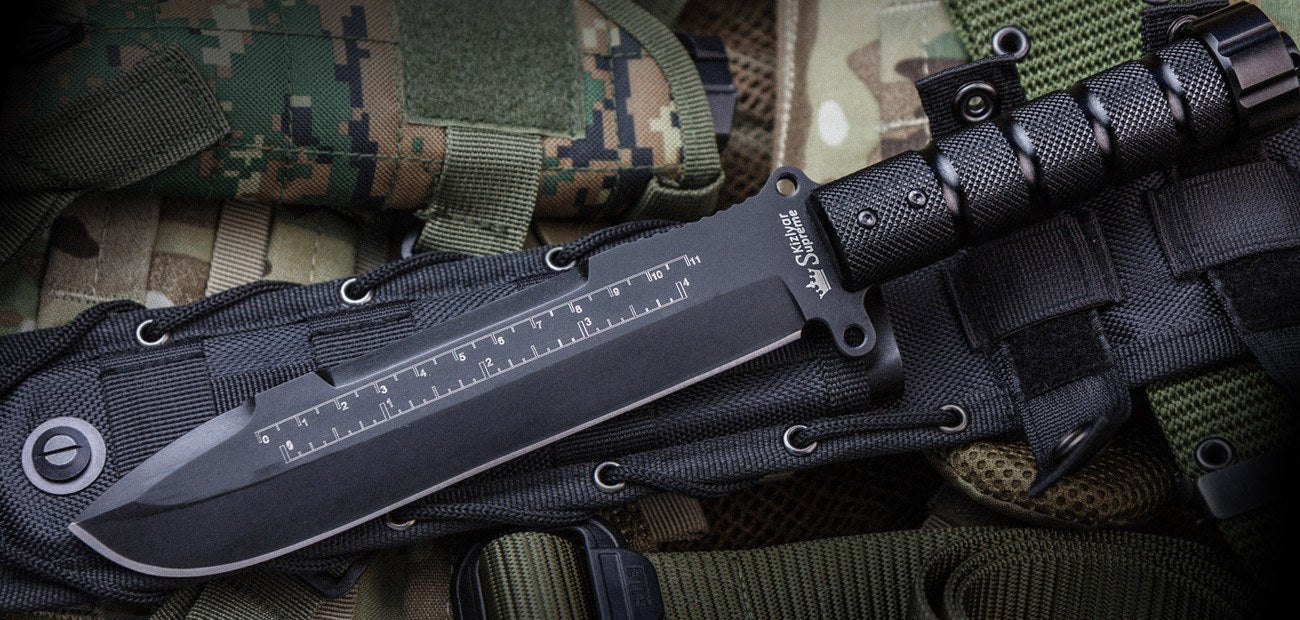 Survivalist X D2 Black Ti Coated Knife From Kizlyar Supreme