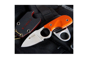 Amigo Z D2 orange G10 neck knife