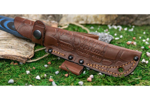 Yeti by Kizlyar Supreme - beautiful leather sheath.