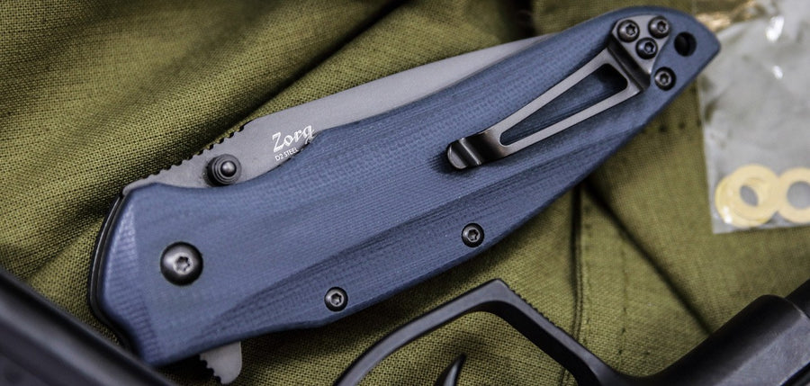 Zorg EDC Flipper Knife From Kizlyar Supreme In Open and Closed Positions