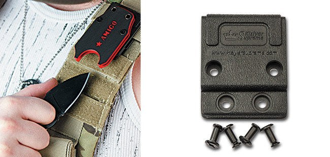 AMIGO neck knife clip from Kizlyar Supreme