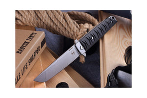 Badyuk Tanto by Brutalica in Stonewash finish