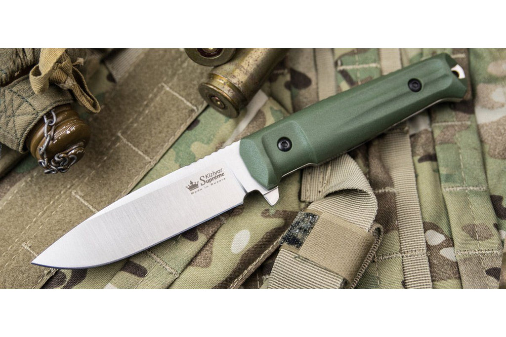 Sturm - tactical knife by Kizlyar Supreme, od green handle option