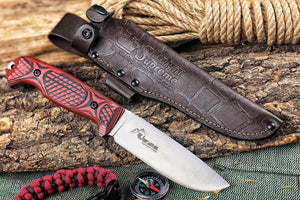 It comes with leather sheath