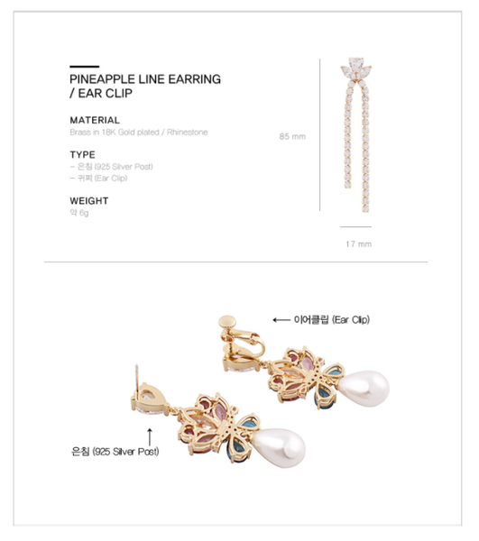 Pineapple Line Earring・TP05403