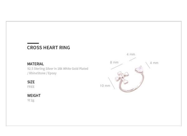 Cross Heart Ring戒指・NHSERN07