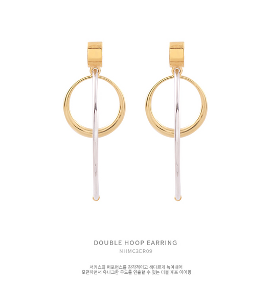Double Hoop Earring耳環・NHMC3ER09