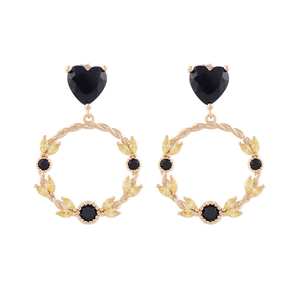 Flower Crown Heart Earring耳環・AC03402