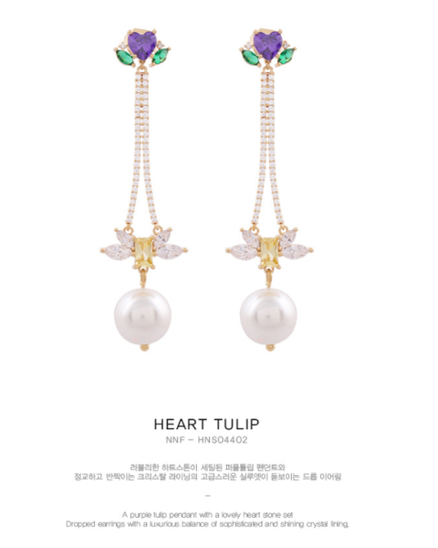 Heart Tulip Earring耳環・HNS04402