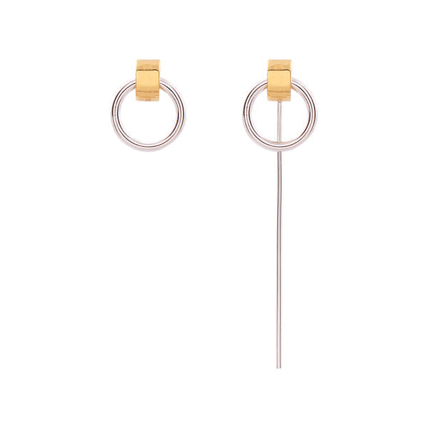 Hoop-Bar Unbal Earring耳環・NHMC3ER08