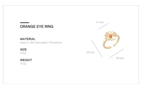 Orange Eye Ring・GF03101