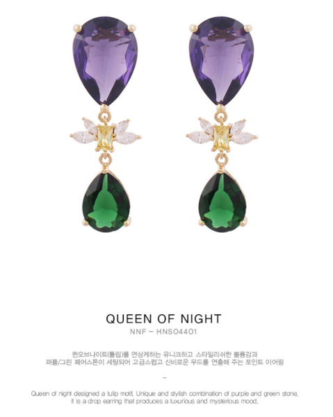 Queen Of Night Earring耳環・HNS04401