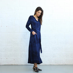 Winter Maxi dress -Dark Blue - Pop Up Fashion Sale - 4