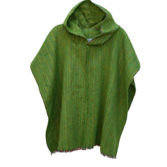 100% Alpaca Poncho in Green Apple - Pop Up Fashion Sale