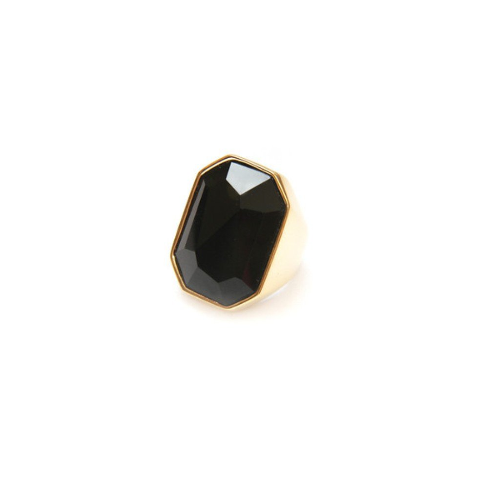 Buzios Onyx Gold Ring By Francesca Romana Diana - Women - Jewelry - Rings