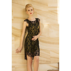 Lace Me All Over Midi Dress - Women - Apparel - Dresses - Cocktail