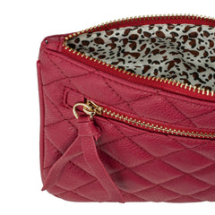 Burgundy Quilted Wristlet - Pop Up Fashion Sale - 2