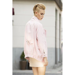 Rebel in Pink Faux suede Oversized jacket - Pop Up Fashion Sale - 5