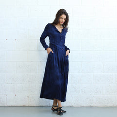Winter Maxi dress -Dark Blue - Pop Up Fashion Sale - 2